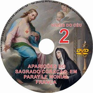 DVD VOZES DO CÉU 02- Filme das Aparições do Sagrado Coração de Jesus à Santa Margarida Maria em Paray Le Monial- França