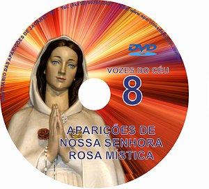 DVD VOZES DO CÉU 08- Filme das Aparições de Nossa Senhora Rosa Mística à Vidente Pierina Gilli em Montichiari- Itália