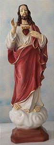 IMAGEM SAGRADO CORAÇÃO DE JESUS- GESSO- 60 CM