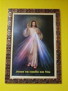 QUADRO JESUS MISERICORDIOSO - 90 CM X 60 CM