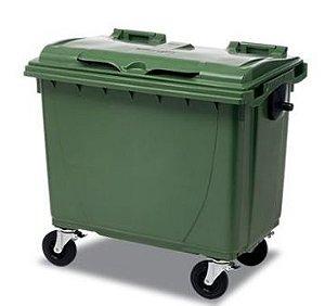Contentor de lixo em polietileno 660 litros