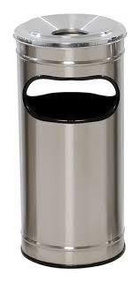 Lixeira Cinzeiro em Aço Inox