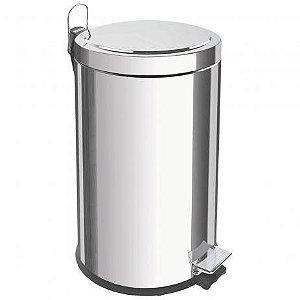Lixeira Inox com Pedal Tramontina 12 litros