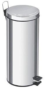 Lixeira Inox com Pedal Tramontina 30 litros