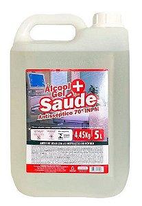 Álcool Gel Antisséptico para mãos 70% INPM 5 litros Mais Saúde