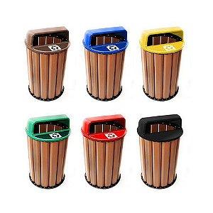 Lixeira em Madeira Plástica 100% Ecológica