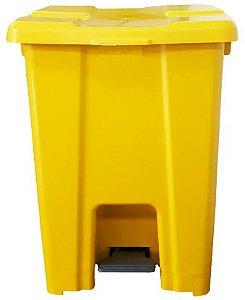 Lixeira Plástica Quadrada com Pedal 25 litros - JSN