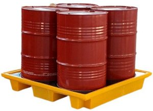 Pallets de Contenção para 4 Tambores 150 litros