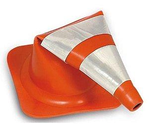 Cones Flexíveis com Faixas Refletivas 75 cm