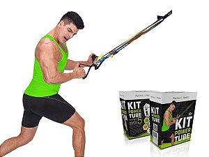 Kit Elástico De Tensão Power Tube Exercícios Academia Fit