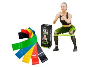 Kit 5 Faixa Elástico Academia Fit Thera Band Fisioterapia