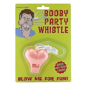 Apito em Formato de Seio - Booby Party Whistle