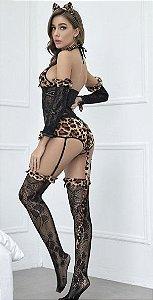 Fantasia Leopardo 5 peças