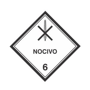 Etiqueta Simbologia de Risco (mod. 8)