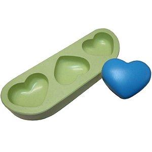 Molde de silicone - Coração Mini (3 cav.)