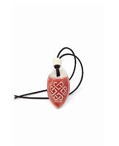 Colar Aromático Nó Infinito em Cerâmica
