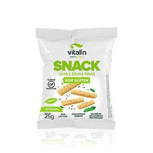 Snack Salgado Chia e Ervas Finas Integral Vitalin 25g