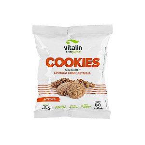 Cookies Linhaça Dourada com Castanha Integral Vitalin 30g