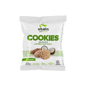 Cookies Linhaça Dourada com Coco Integral Vitalin 30g