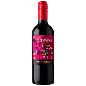 Vinho Chileno Santa Carolina Reservado Tinto Suave 750ml