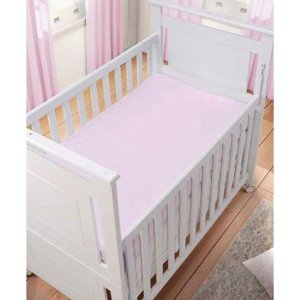 Lençol Rosa Liso 100% algodão - Carícia Baby Malhas