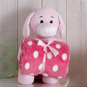 Kit Manta com Bichinho de Pelúcia Pink Dog Bouton Baby