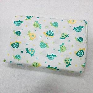 Travesseiro Para Bebê Carícias Malhas Tartaruga Verde