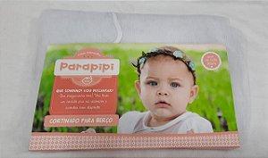 Mosquiteiro para Berço Varal Inteiro Branco Parapipi - Minasrey