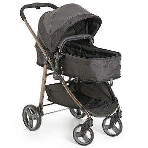 Carrinho de Bebê Berço, Passeio e Moises Olympus Black