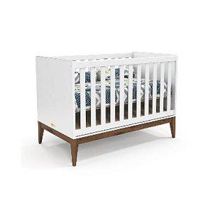 BerÇo Americano Nature Laqueado Branco Soft/eco Wood Matic MÓveis