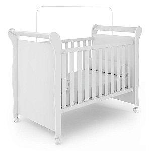 Berço Para Bebê Sonho Encantado 3 em 1 Branco Brilho Fiorello