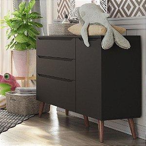 Cômoda para quarto de bebê Smart Baby-Chumbo (Pé Retrô) Fiorello