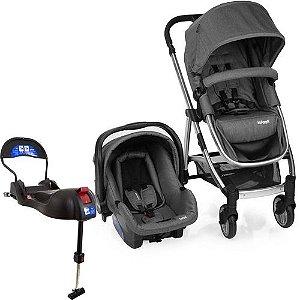 Carrinho De Bebê Epic Lite Trio Grey Classic + Base Isofix - Infanti