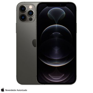 "iPhone 12 Pro Max Apple 128GB Grafite Tela de 6,7"", Câmera Tripla de 12MP, iOS"