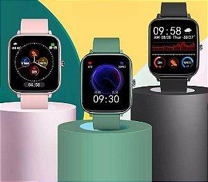 Smartwatch P6 Sports Fitness Frequência cardíaca Bluetooth chamada Touchscreen IP67 well store