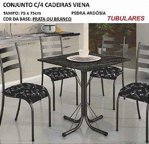 Conjunto com 04 Cadeiras Viena