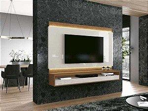 Painel para TV até 60 Polegadas Savoy Off White com Naturale - Edn Móveis