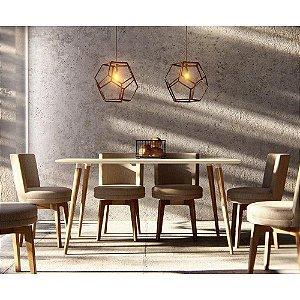 Mesa de Jantar Veneza 6 Lugares - Casa D - 160 X 90 CM