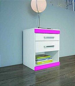 Mesa de Cabeceira Moval Apolo com 2 Gavetas Flex Color