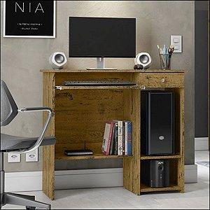 Mesa Para Computador 1 Gaveta Com Nichos Marina New Patrimar - Nature