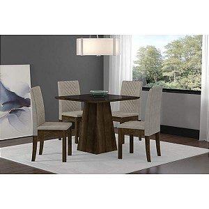 Mesa de Jantar  com 04 cadeiras Cristal Sonetto