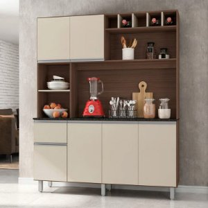 Kit Cozinha 6 Portas 1 Gaveta Alice - Poliman Móveis