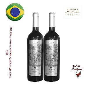 kit 02 Vinhos Pireneus Bandeiras Barbera Tinto 2017