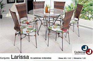 CONJUNTO DE MESA LARISSA COM 6 CADEIRAS