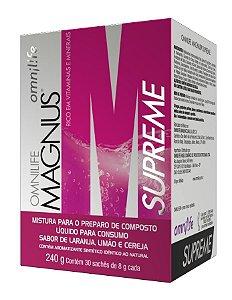 MAGNUS SUPREME, CX COM 30 SACHÊS, 240G - OMNILIFE