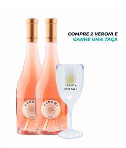 Kit 2 Veroni Rosé (750ml) + uma taça