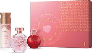 Kit Presente Floratta: Rose Desodorante Colônia 75ml + Loção Corporal 200ml + Red Desodorante Colônia 30ml