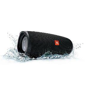 Caixa de Som Bluetooth Charge 4 Black JBL à Prova d´água, carregador para celular.