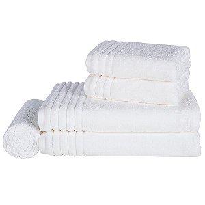 Jogo de Banho Gigante 5 Peças Imperiale Branco Trussardi