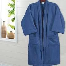 Roupão de Banho Velour Azul M Dohler